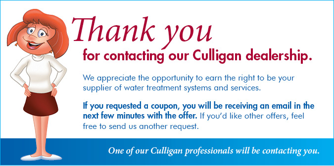 Thank You For Contact Culligan