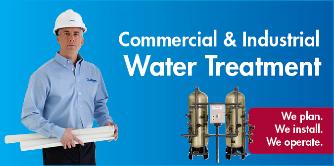Commercial & Industrial Water Treatment. We plan. We install. We operate.