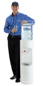 Culligan man with bottled water cooler